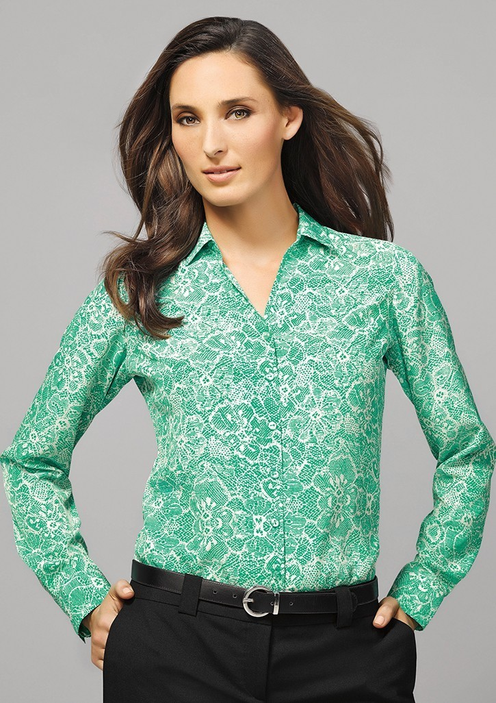 Solanda Ladies Print Long Sleeve Shirt