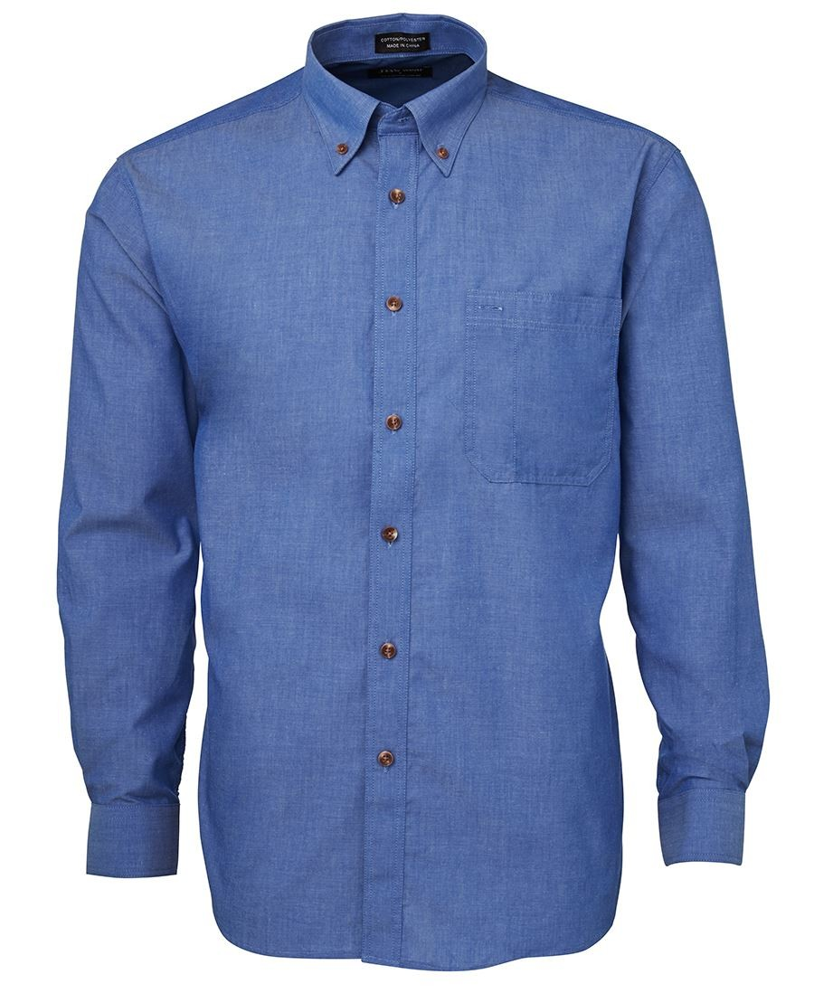 JB's Original Long Sleeve Indigo Chambray Shirt