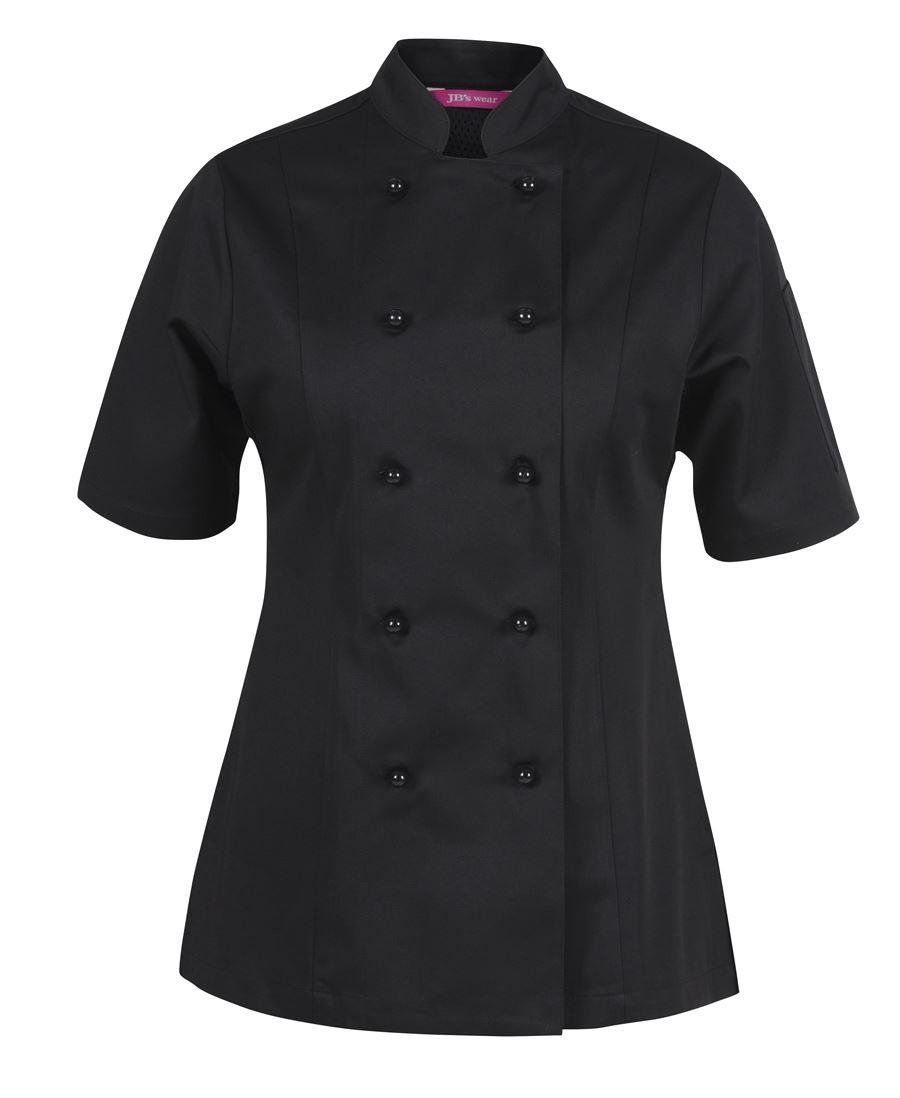 JB's Ladies Short Sleeves Vented Chef's Jacket