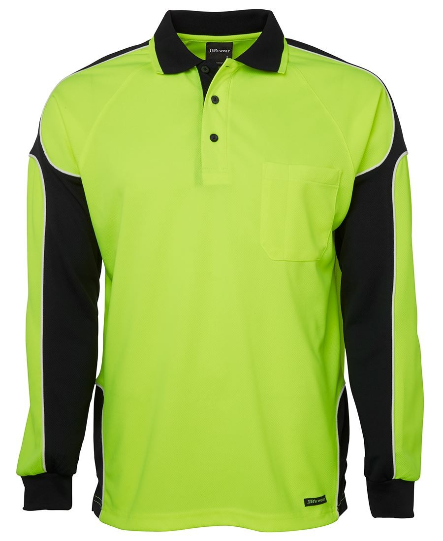 JB's Hi Vis L/S Arm Panel Polo