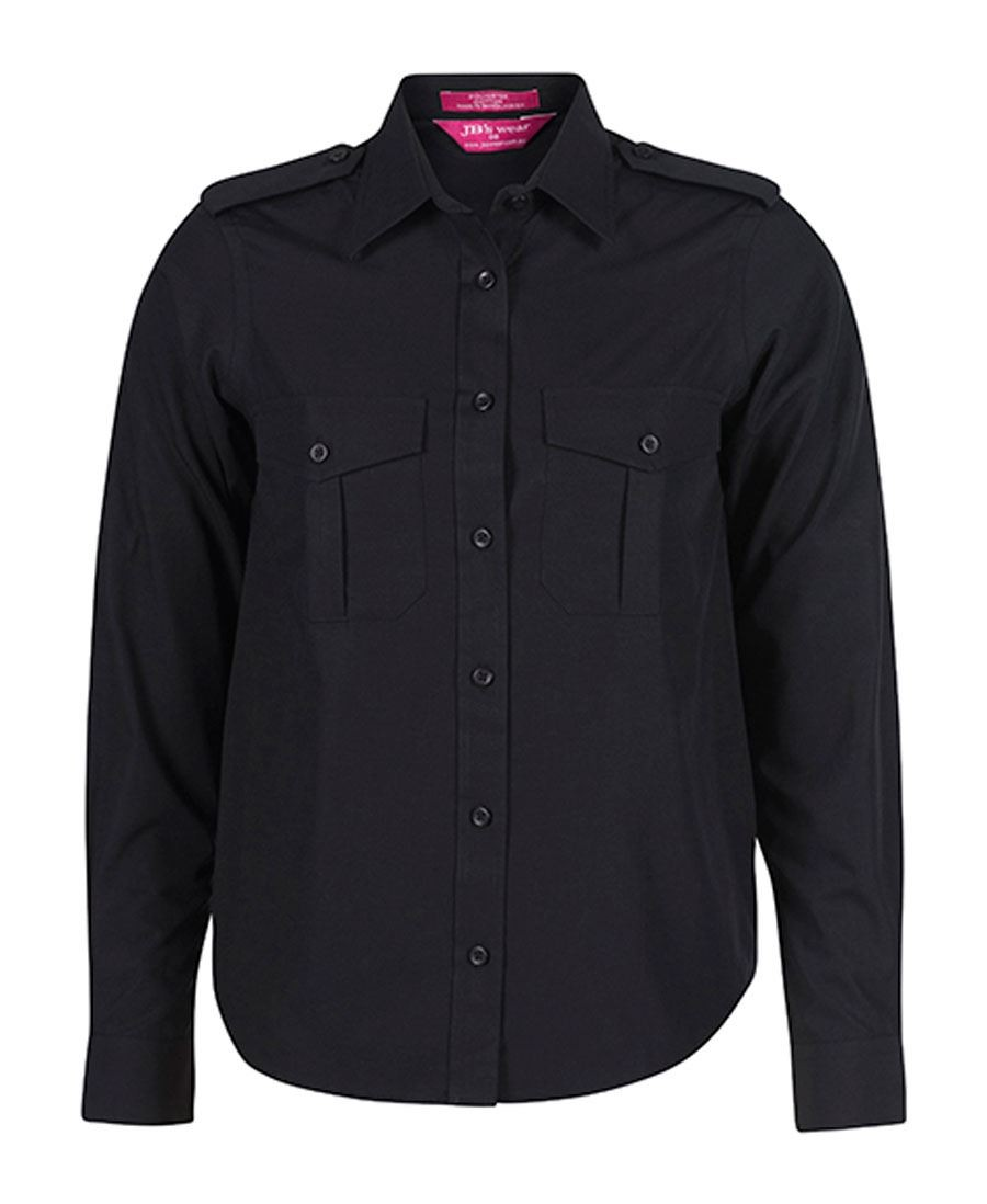 JB's Ladies Epaulette Long Sleeve Shirt