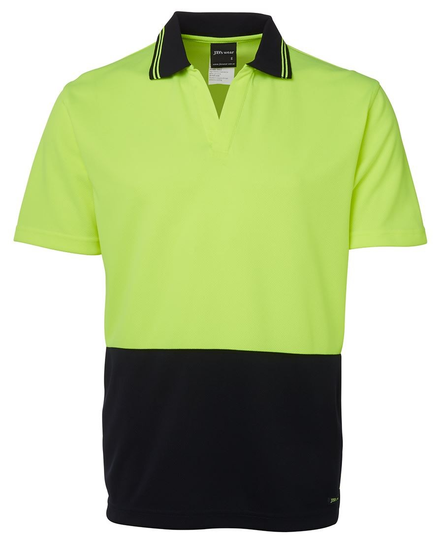 JB's Hi Vis S/S Non Button Polo