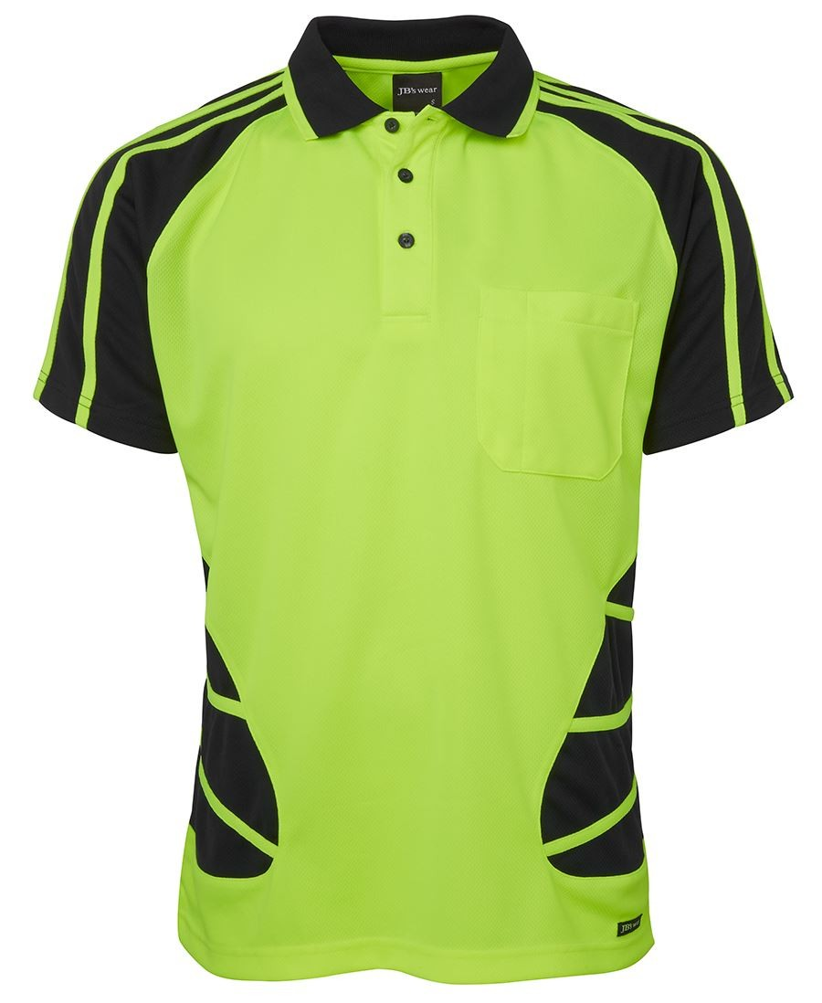 JB's Hi Vis S/S Spider Polo