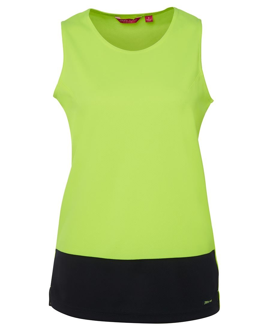 JB's Ladies Hi Vis Traditional Singlet