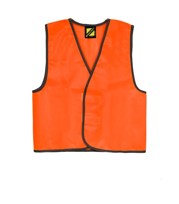 Workcraft - Kids Hi Vis Safety Vest-Orange-12