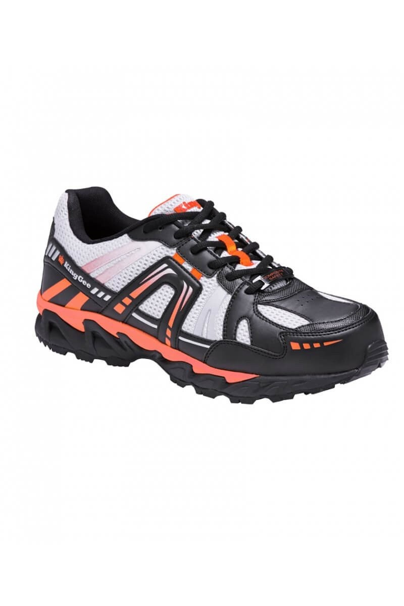 KingGee Comp-Tec Safety Shoe Orange/Black