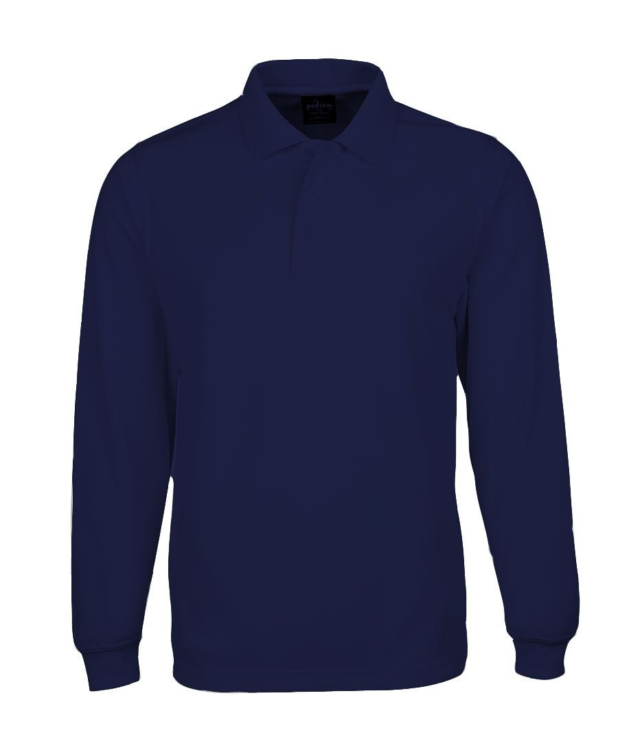 JB's Podium Mens Long Sleeves Poly Polo