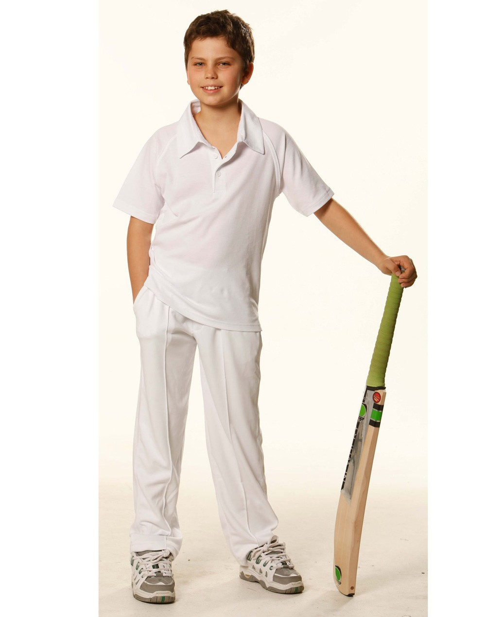 Winning Spirit Kids' TrueDry® Mesh Knit Short Sleeve Cricket Short Sleeve Polo