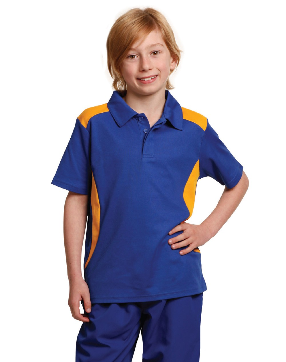 Winning Spirit Kids' TrueDry® Contrast Short Sleeve Polo