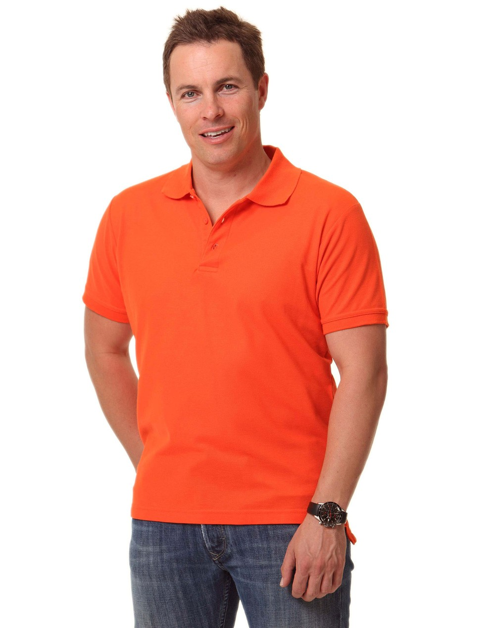 Winning Spirit Men's TrueDry® Solid Colour Short Sleeve Pique Polo