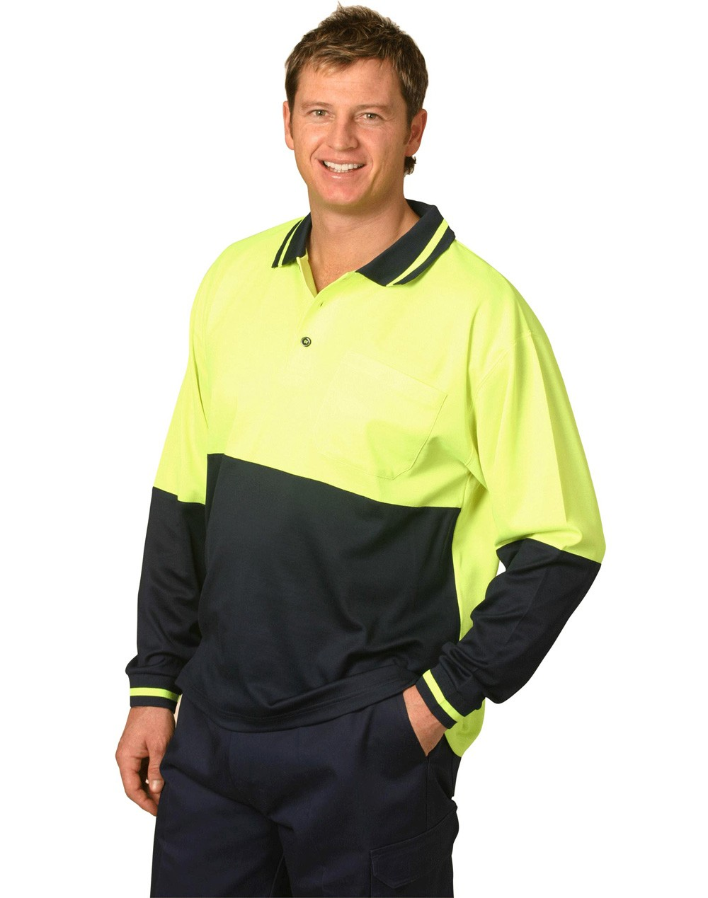 Winning Spirit TrueDry® Long Sleeve Safety Polo