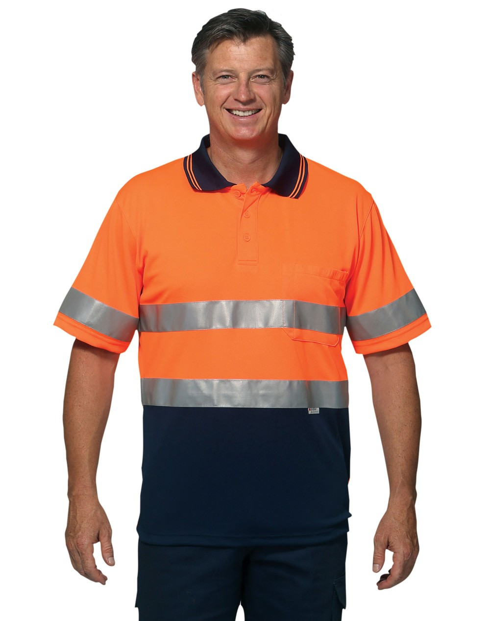 Winning Spirit High Visibility Short Sleeve Safety Polo 3M Reflective Tapes