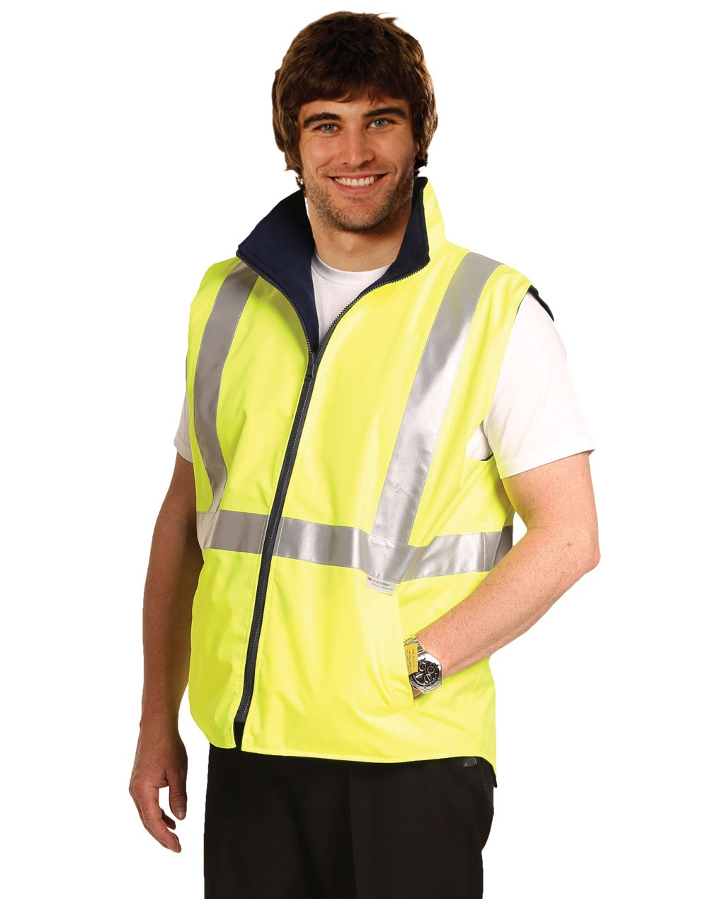 Winning Spirit High Visibility Two Tone Vest With 3M Reflective Tapes