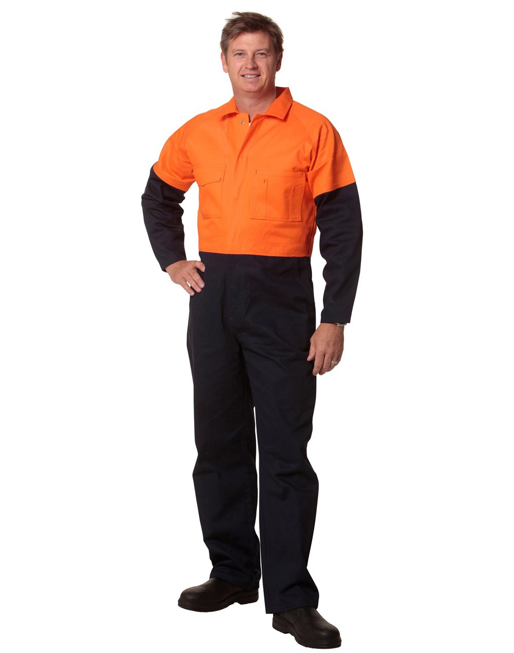 Winning Spirit Men's Regular Size, Cotton Drill Coverall