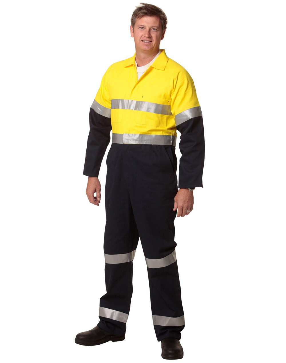 Winning Spirit Men's Cotton Drill Coverall with 3M Scotchlite Reflective Tapes