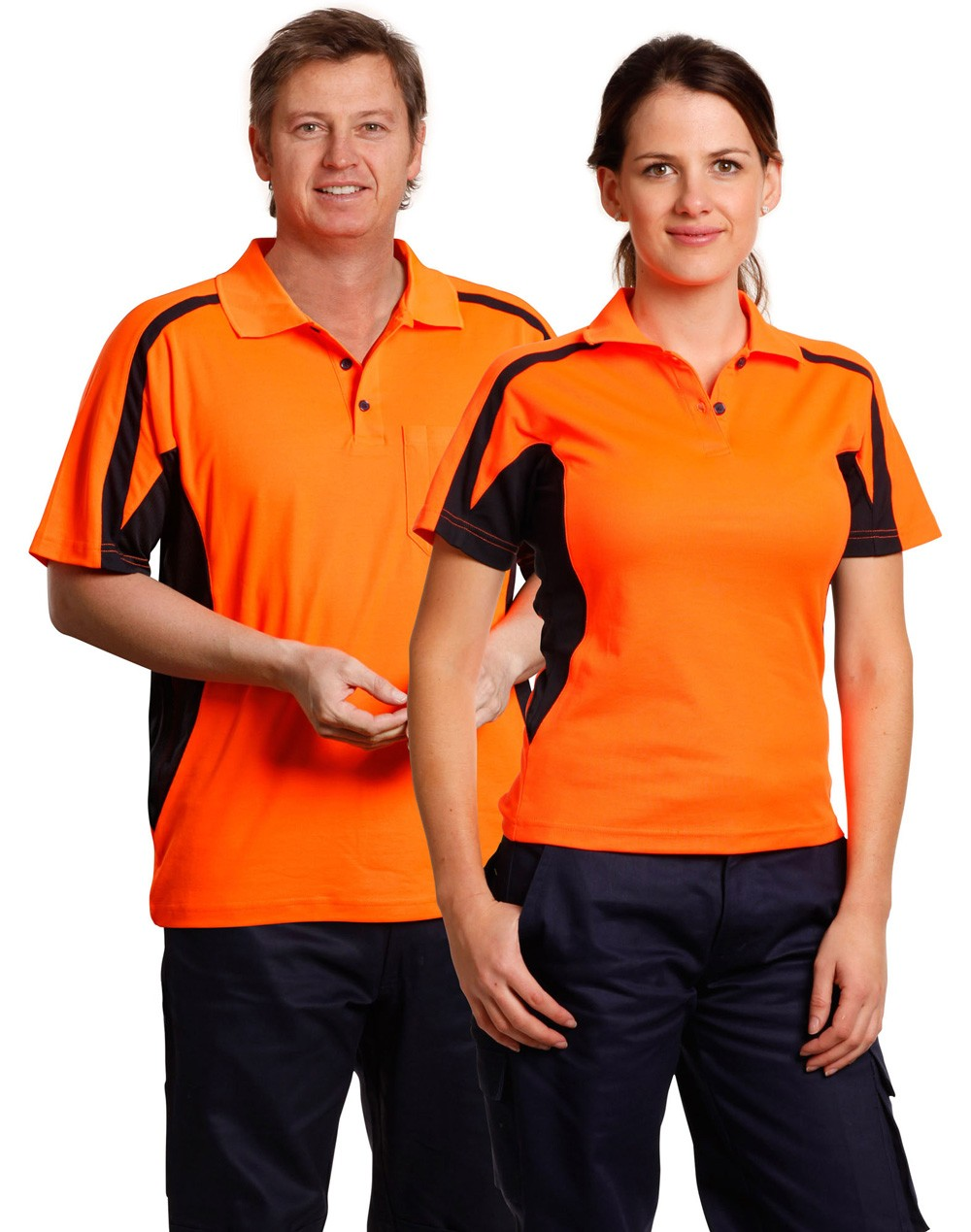 Winning Spirit Men's TrueDry® Short Sleeve Safety Polo