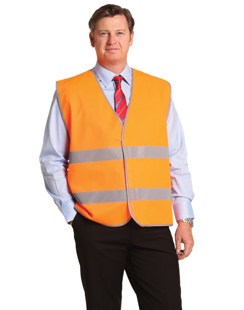 Winning Spirit Hi-Vis Safety Vest With Reflective Tapes