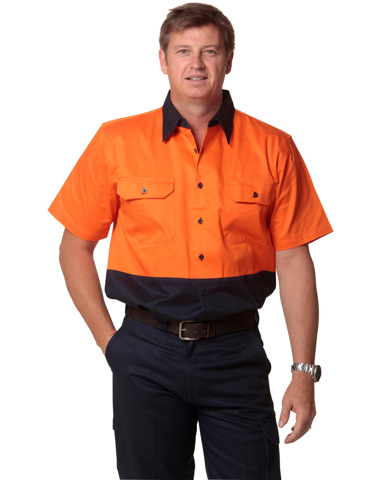 Winning Spirit High Visibility Short Sleeve Work Shirt