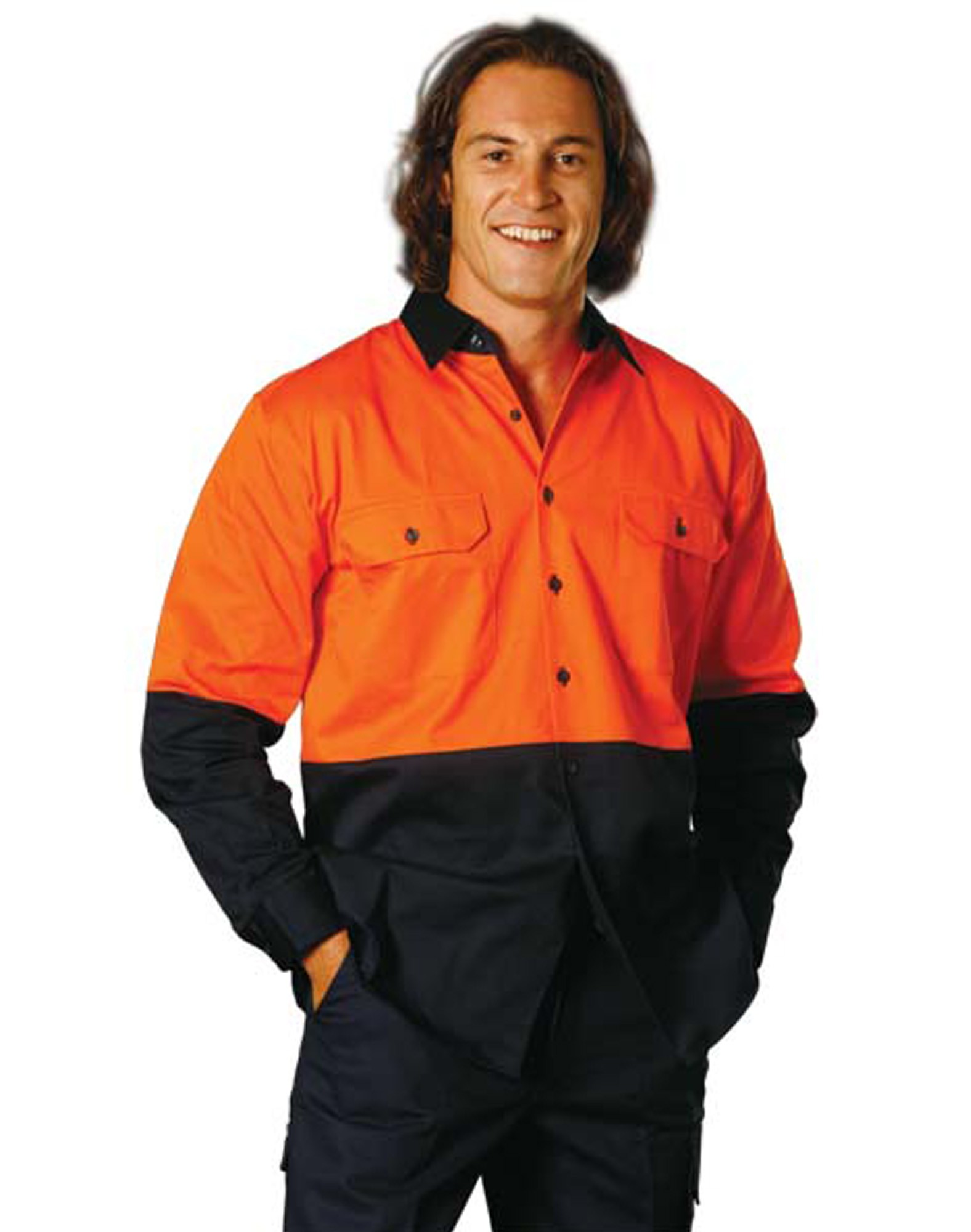 Winning Spirit High Visibility Long Sleeve Work Shirt