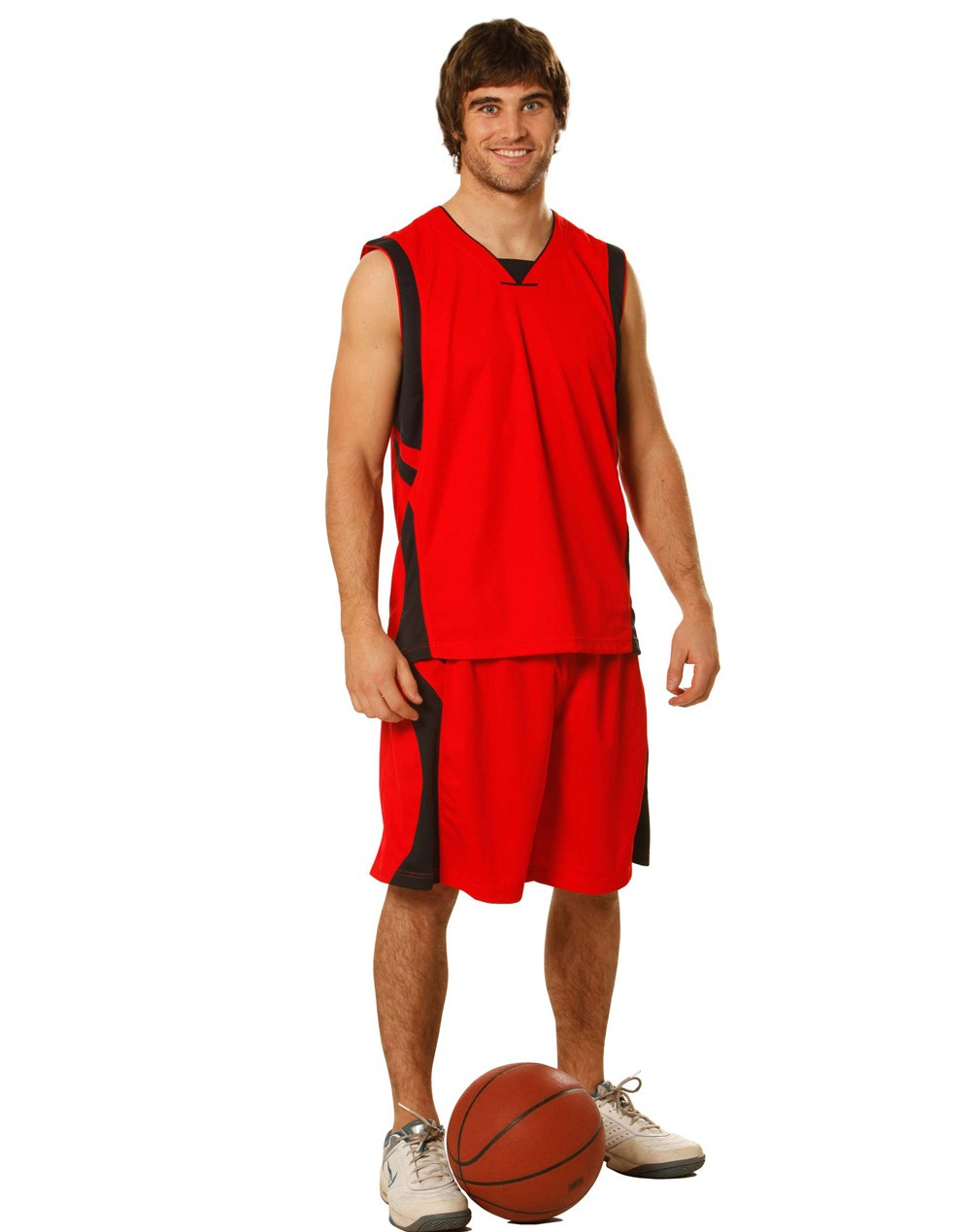 Winning Spirit Adults' CoolDry® Basketball Contrast Colour Singlet