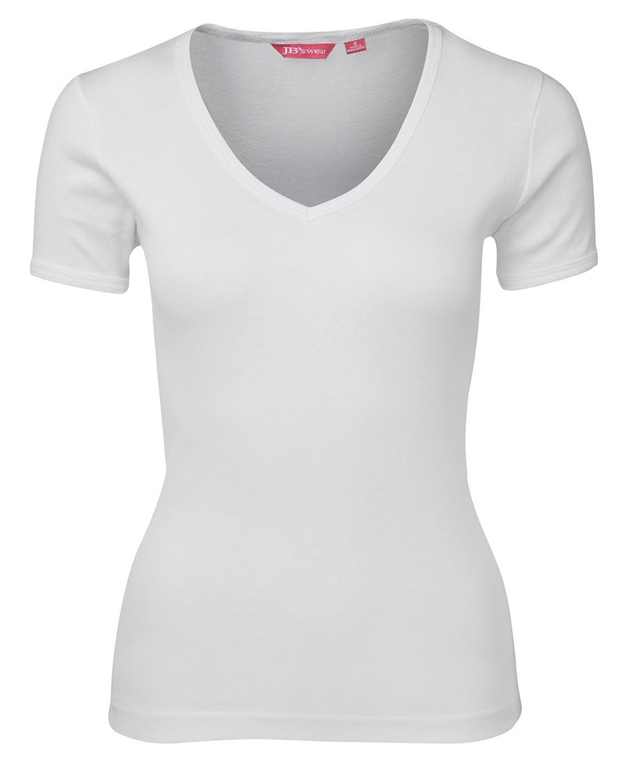 JB's Ladies V-Neck Rib Tee