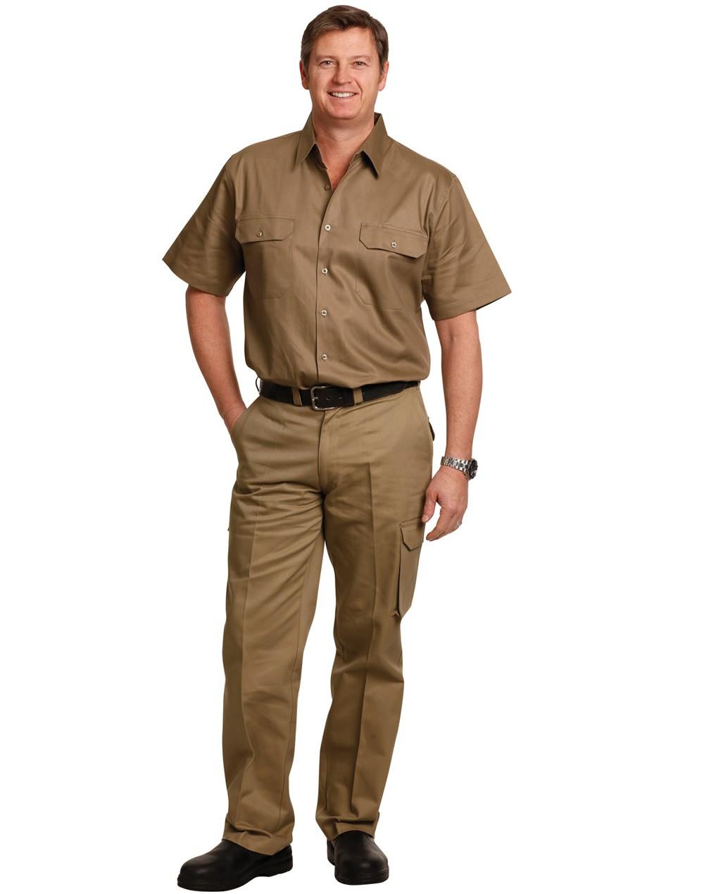Winning Spirit Men's Heavy Cotton Pre-Shrunk Drill Pants Regular Size