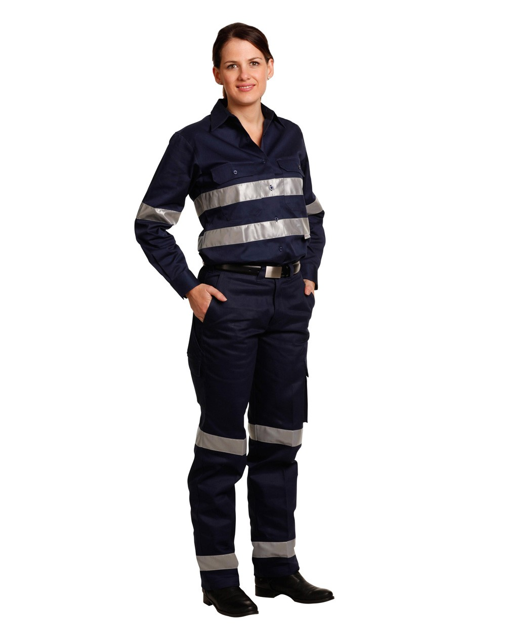 Winning Spirit Ladies' Heavy Cotton Drill Cargo Pants With 3m Tapes
