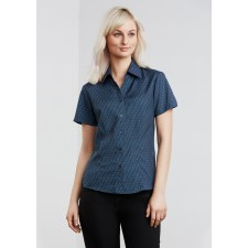 Biz Collection Ladies Printed Oasis Short Sleeve Shirt
