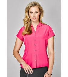 Solanda Ladies Plain Short Sleeve Shirt