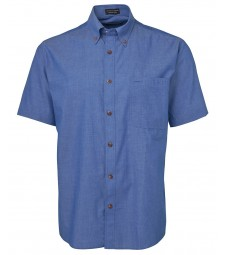 JB's Original Short Sleeve Indigo Chambray Shirt