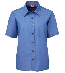 JB's Ladies Original Short Sleeve Indigo Chambray Shirt