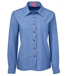 JB's Ladies Original Long Sleeve Indigo Chambray Shirt