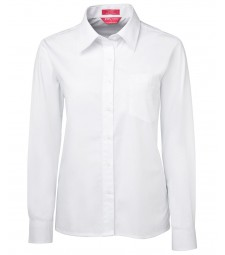 JB's Ladies Long Sleeve Poplin Shirt
