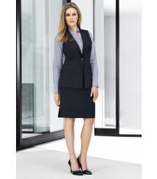 Ladies Longline Sleeveless Jacket