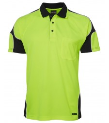 JB's Hi Vis S/S Arm Panel Polo