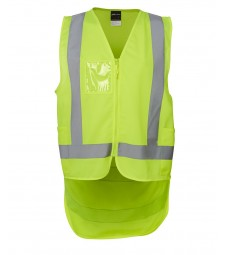 JB's Hi Vis Zip Drop Tail H Pattern (D+N) Vest