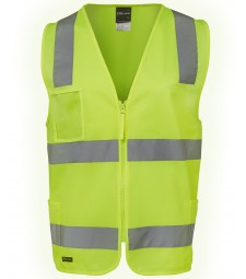 JB's Hi Vis (D+N) Zip Safety Vest