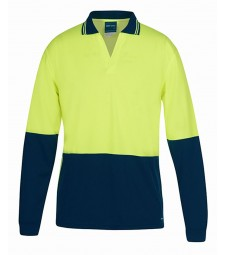JB's Hi Vis L/S Non Button Polo
