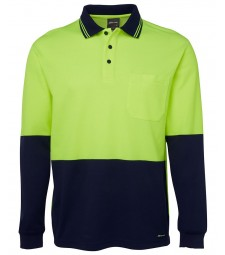 JB's Hi Vis L/S Cotton Back Polo