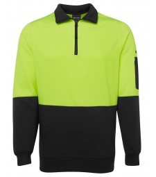JB's Hi Vis 1/2 Zip Fleecy Sweat