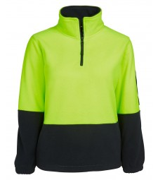 JB's Ladies Hi Vis 1/2 Zip Polar Fleecy