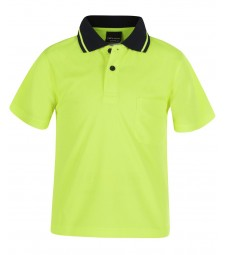 JB's Kids Hi Vis Non Cuff Traditional Polo