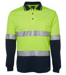 JB's Hi Vis L/S (D+N) Traditional Polo