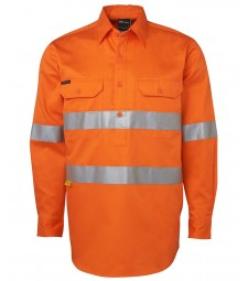 JB's Hi Vis L/S (D+N) 190g Close Front Shirt