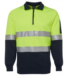 JB's Hi Vis 1/2 Zip (D+N) Fleecy Sweat