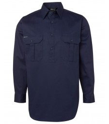JB's Long Sleeves 190G Close Front Work Shirt