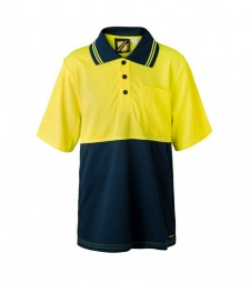 Workcraft - Kids Hi Vis Two Tone Short Sleeve Polo With Pocket