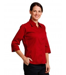 Winning Spirit Ladies' Teflon Executive 3/4 Sleeve Shirt