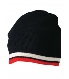 Winning Spirit Knitted Contrast Stripes Beanie