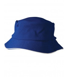 Winning Spirit Pique Mesh With Sandwich Trim Bucket Hat